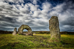 Men-an-tol. Ancient monument, near Penzance, Cornwall. United Kingdom Royalty Free Stock Photo