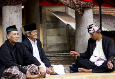 Men at Toraja Funeral Ceremony Stock Image