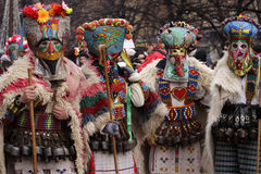 Men in traditional masquerade costume Stock Photos