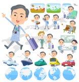 Men_travel velho do doutor ilustração royalty free