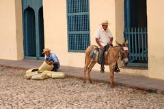 Men in Trinidad, Cuba Royalty Free Stock Photography