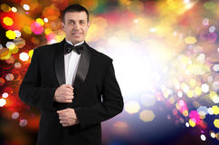 Men in tuxedo Stock Images
