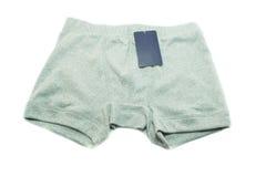 Men underwear with price tag on white background Stock Photos