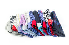 Men underwear,underpants for men. Stack of men underwear isolated on white background,underpants for men stock photo