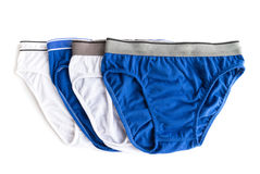 Men underwear used white and blue color Royalty Free Stock Photo