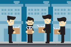 MEN unemployed cartoon design. VECTOR CARTOON DESIGN : MEN unemployed cartoon design Stock Photos