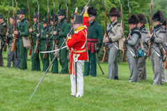 Men in Uniforms during War Reenactment Royalty Free Stock Photography