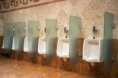 Men urinals Stock Photography