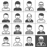 Men users icons Royalty Free Stock Image
