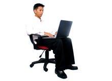 Men using a laptop Royalty Free Stock Photos