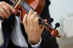 Men Violinist Playing Classical Violin Royalty Free Stock Images