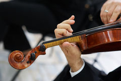 Men Violinist Playing Classical Violin Royalty Free Stock Photography