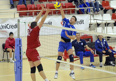 Men volleyball attack Stock Images
