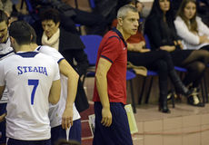Men volleyball coach Stock Photo