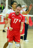 Men volleyball player reaction Stock Image