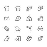 Men waer  icon set on white background Stock Images