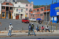 Men wait the any job on street in Cape Town, South Africa Royalty Free Stock Photo