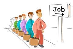 Men Waiting For Job Royalty Free Stock Photo