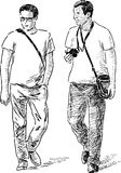 Men on a walk Stock Image