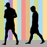 Men Walking Royalty Free Stock Photo