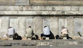 Men washing. Before praying, Istanbul, Turkey stock images