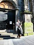 Men wear the national dress of Scotland Royalty Free Stock Photos