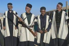 Men wear traditional dresses circa Isfahan, Iran. Stock Photo