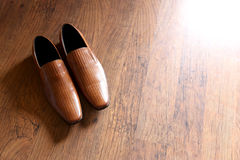 Men Wedding shoes on floor Stock Photography