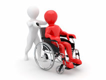 Men on wheelchair Stock Photo