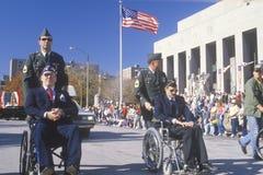 Men in Wheelchairs. Veteran's Day Parade, St. Louis, Missouri Royalty Free Stock Photo
