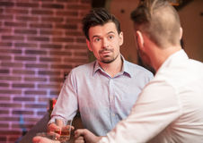 Men with whisky Stock Photography