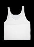 Men white sleeveless underwear. Isolated at black background Stock Image