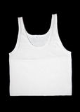 Men white sleeveless underwear stock image