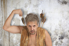 Men witch-hunter of arrows Stock Photo