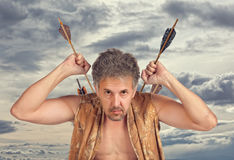 Men witch-hunter of arrows Royalty Free Stock Photo