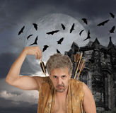 Men witch-hunter of arrows Royalty Free Stock Images