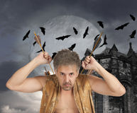 Men witch-hunter of arrows Royalty Free Stock Photography