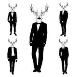 Men With Deer Heads Royalty Free Stock Images