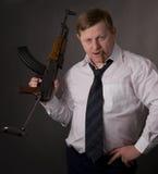 Men With Gun Stock Image