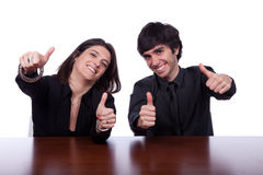Men and woman gesturing OK Stock Images