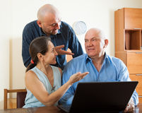 Men and woman at home online Royalty Free Stock Photo