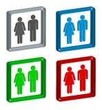 Men and woman icon 3d Stock Photo