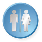 Men woman icon Royalty Free Stock Photography
