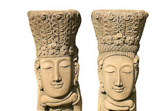Men and woman stone carvings Stock Image