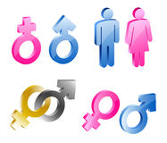 Men woman symbols. Men and woman symbols. illustration Stock Images