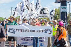 Men and Woman in Veterans for Peace at Nogales, AZ Royalty Free Stock Photography