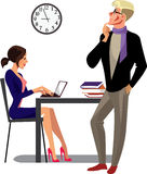 Men and woman at work, creative people worker, secretary, people in office Royalty Free Stock Images