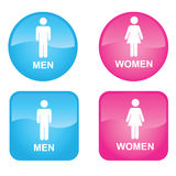 Men and Women. Blue Men and Pink Women. Vector EPS Royalty Free Stock Photos