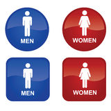 Men and Women. Blue Men and Red Women Stock Photos