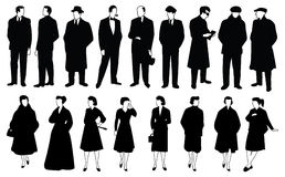 Men and women. Vector collection of men and women Royalty Free Stock Photo